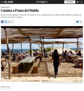 Portada del diario El País - Camino a Punta del Diablo