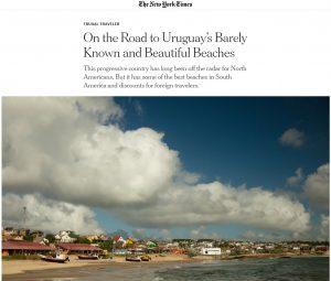 Portada del New York Times playas uruguayas