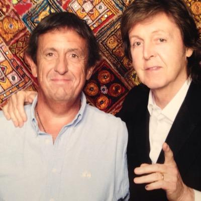 Pablo Lecueder junto a Paul McCartney